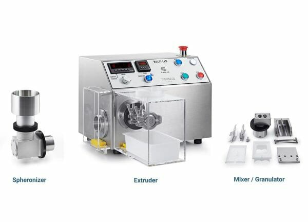 caleva multi lab mixer extruder spheronizer on a single base unit ideal for teaching and commercial formulation development lrg